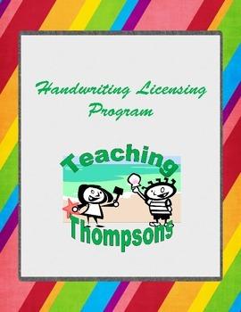 Handwriting Licensing Program - Print writing practice book