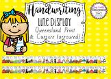 Handwriting Line Posters - Queensland Fonts