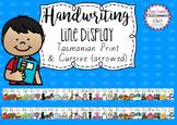 Handwriting Line Posters - Tasmanian Fonts