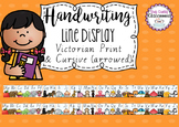 Handwriting Line Posters - Victorian Fonts