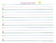Handwriting Lined Paper for Kindergarten and 1st Grade