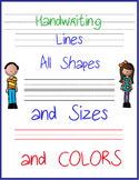 Handwriting Lines Clip Art Commercial Use Writing Lines