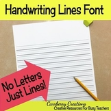 Handwriting Font: JUST LINES! Great for making worksheets!