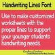 Commercial Font | Handwriting Lines for Handwriting Paper