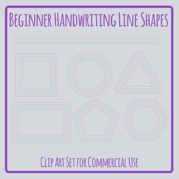 Handwriting Lines in Shapes for Creative Writing, Poetry & Handwriting Practice