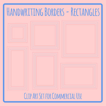 Handwriting Lines in Squares or Rectangles in Borders or Frames Clip Art