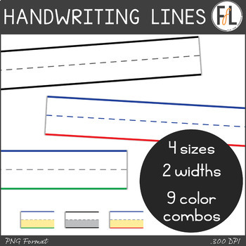 Primary Grades Handwriting Line Clipart