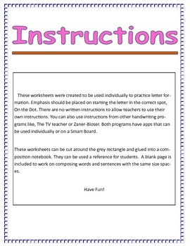 Handwriting Lowercase Letter Formation for Composition Books