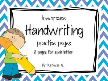 Handwriting - Lowercase practice pages