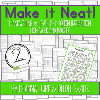 Handwriting-Make it Neat! Numeral Writing Practice, Instruction, and Fluency