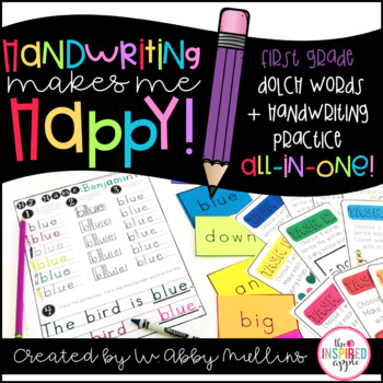 Handwriting and Sight Word Practice {1st Grade Dolch Words}