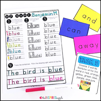Handwriting and Sight Word Practice {2nd Grade Dolch Words}