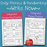 Integrated Phonics & Handwriting  Practice: Kindergarten &