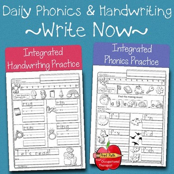 Integrated Phonics & Handwriting  Practice: Kindergarten & 1st 