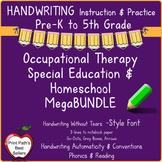 Handwriting Instruction Mega Bundle: Handwriting Without Tears STYLE FONT