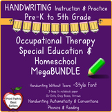 Handwriting Instruction Mega Bundle: Handwriting Without Tears STYLE FONT