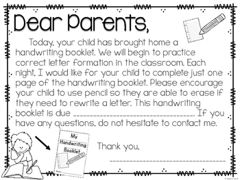 Handwriting Mini-Book - Dollar Deal