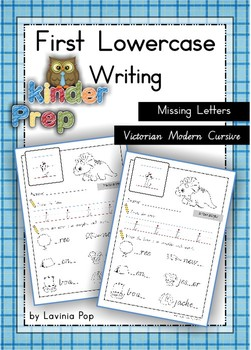 Handwriting - Missing Letters {Lowercase Letters} Vic. Cursive font