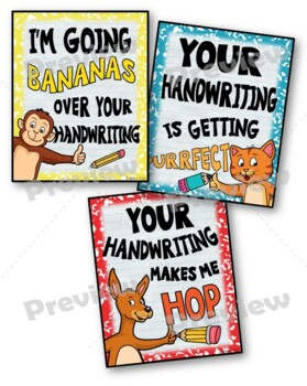 Handwriting Motivation Notes Set