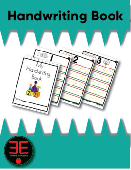 Handwriting Number Book