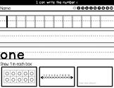 Handwriting  Numbers 1-10