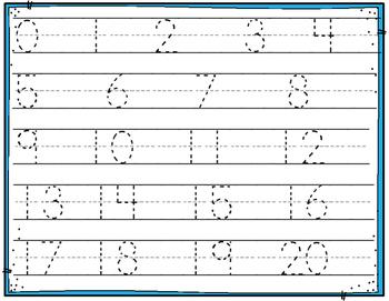 Handwriting Numbers 1-20