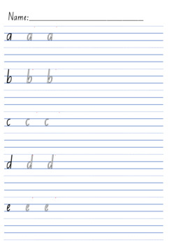 Handwriting Pack - Year 1 lines + letters {NSW/ACT/SA/Tas style}