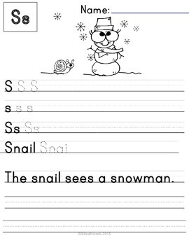 Handwriting Print- Packet