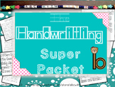 Handwriting Packet- writing practice and lower case letter identification