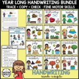 Handwriting Packets • Trace Copy Check • 12 Monthly Themes