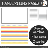 Handwriting Page Clipart - for Primary Grades