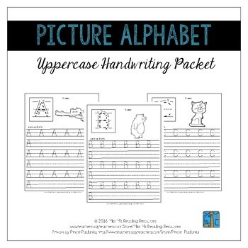 Handwriting Pages BUNDLE {Picture Alphabet}