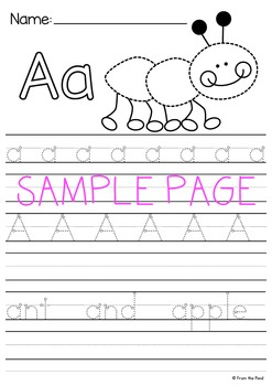Handwriting Pages {Letters of the Alphabet}