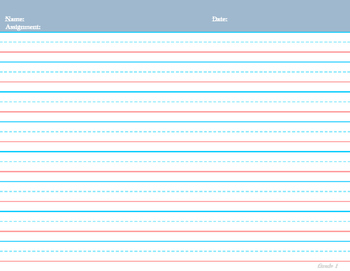 Handwriting Pages for Grades: Pk, K, 1, & 2
