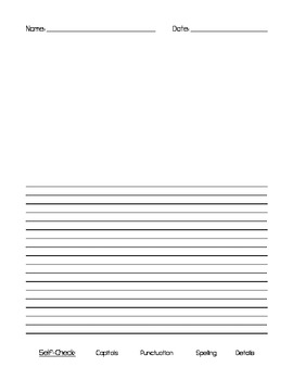 Handwriting Paper with Illustration