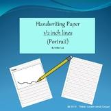 Handwriting Paper 1/2 inch (Portrait)