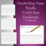 Handwriting Paper 1/2 lines (landscape)