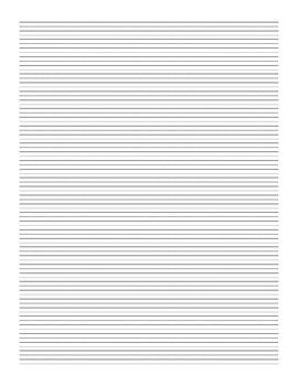 "Handwriting Paper - 1/4"" Lines"