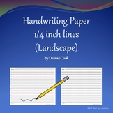Handwriting Paper 1/4 inch lines (Landscape)