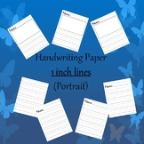 Handwriting Paper 1 inch (Portrait)