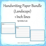 Handwriting Paper 1 inch lines (Landscape)