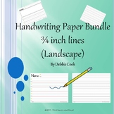 Handwriting Paper 3/4 inch line (Landscape)