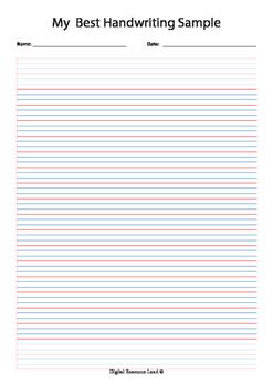 Year 3 Best Handwriting Paper A4 PDF (iPad, Whiteboard or Print)