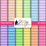 Handwriting Paper | Rainbow Scrapbook Backgrounds for Writing Centers
