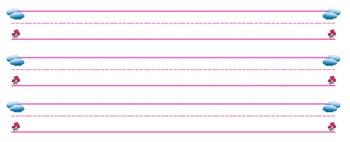 Handwriting Paper (Pink)