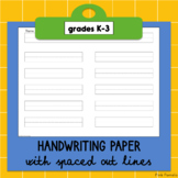 Handwriting Paper (K-3)