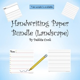 Handwriting Paper (Landscape)  Bundle