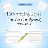 Handwriting Paper (Landscape)  Bundle