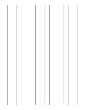 Handwriting Paper - Large Lines
