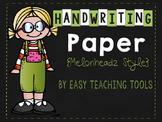 Handwriting Paper {Melonheadz Kidlettes Style}